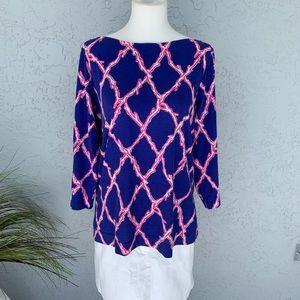 Lilly Pulitzer 3/4 Sleeve Tunic SZ L